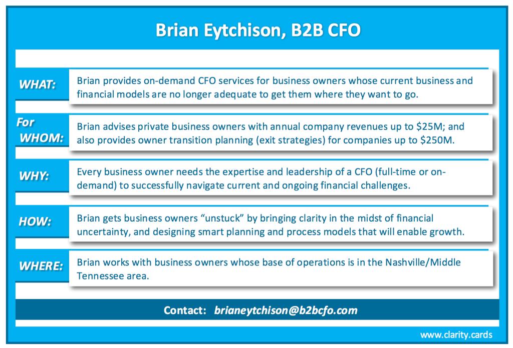 Clarity Card Brian Eytchison